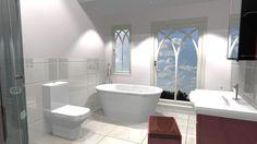 Gothic style family bathroom design by Alex Taylor of European Bathrooms
