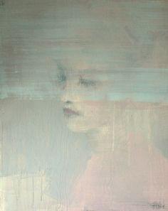 """April´s blue horizon"", acrylic on wood panel, 40x50cm,  by Jorunn Mulen"