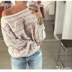 Cheap jersey mujer, Buy Quality winter women directly from China autumn winter women Suppliers: LASPERAL 2017 Autumn Winter Women Jumper Sweater Twisted Batwing Sleeve Off Shoulder Sweater Knit Casual Pullover Jerseys Mujer Rose Sweater, Sweater And Shorts, Floral Sweater, Sweater Outfits, Jumpers For Women, Sweaters For Women, Ladies Jumpers, Ladies Blouses, Women's Blouses