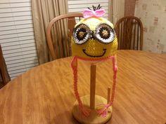 Crocheted girl minion