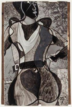 Nicolás de Lekuona. Figura de mujer, 1933. 13,5x9cm. Imágenes por cortesía de Galería Guillermo de Osma.