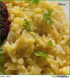 Starodávné ( nejen ) přílohové brambory podle prababičky Czech Recipes, Ethnic Recipes, Gnocchi, Risotto, Potato Salad, Mashed Potatoes, Side Dishes, Menu, Pizza