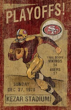 This San Francisco 49ers Vintage Wall Art by Imperial USA will make a great addition to you Fan Cave, Rec Room, den or office. This vintage looking piece of art was created with the attention on detail. Graphics depict the earlier years on a rustic, distressed wood panel. This will make the perfect gift for that sports fan in your life.Product Details:• Distressed look and retro-looking image• Team logo and coordinated colors on front• League: NFL• Team: San Francisco 49ers• Dust for easy…