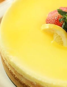 Lemon Cheesecake...this is the best recipe I've used for the basic cheesecake portion.  I used 2/3 lemon wafer cookies and 1/3 graham crackers for the crust...really good!  And I skipped the sour cream topping layer.