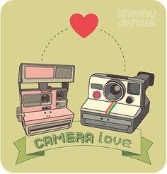 camera love illustration