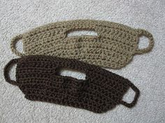 Crochet beard pattern. A version that does not attach to a hat.