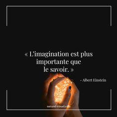 "Citation inspirante ""L'imagination est plus  important que le savoir."" Albert Eintein #citation #citationinspirante #developpementpersonnel French Quotes, Quotes About Strength, Albert Einstein, In My Feelings, Favorite Quotes, Quotations, Inspirational Quotes, Positivity, Messages"