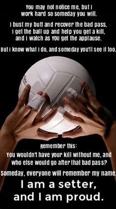 Finally I am a setterYou can find Volleyball setter and more on our website.Finally I am a setter Volleyball Chants, Volleyball Posters, Volleyball Training, Volleyball Workouts, Coaching Volleyball, Volleyball Pictures, Volleyball Team Shirts, Volleyball Mom Quotes, Libero Volleyball