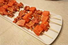 Quick and tasty - Melon and Prosciutto skewers