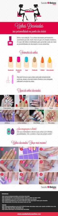Expresse sua personalidade por meio de suas unhas! Confira as dicas sobre unhas decoradas e arrase sempre com um estilo diferente e criativo!
