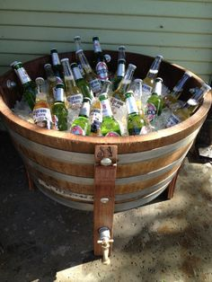Wine barrel planter or bucket
