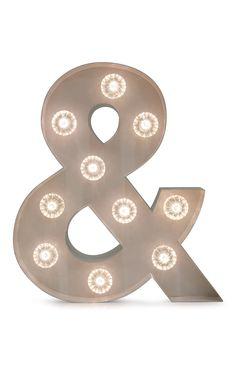 Primark - Weiße Lampe in Et-Zeichen-Form