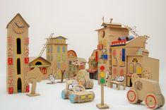 Cardboard Dad: Город из картона для мышей   Cardboard City Mouse