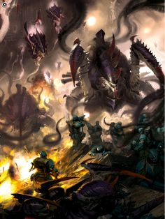 Zoanthropes and maleceptors vs scions by Paul Dainton