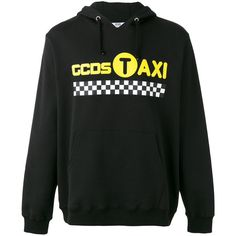 Gcds - Taxi hoodie - men - Cotton - XL ($172) ❤ liked on Polyvore featuring men's fashion, men's clothing, men's hoodies, black, mens hoodie, mens cotton hoodie, mens hoodies, mens hooded sweatshirts and mens sweatshirts and hoodies