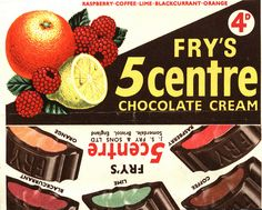 Fry's chocolate bars - I loved these they were very sophisticated chocolates and you only got them on special occasions