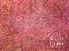 Textural Fabric Paper Tutorial - http://www.linda-matthews.com/tutorial-textural-fabric-paper/