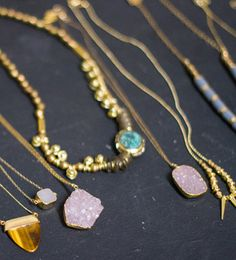New jewelry from Vanessa Mooney and House of Harlow. http://www.swell.com/NECKLACES?pg=100