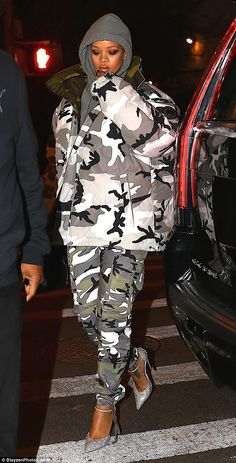 Camouflage in the styleset in a Vetements coat like Rihanna   Click 'visit' to buy it now  #DailyMail