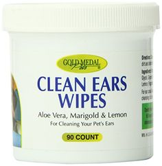 Gold Medal Pets Clean Ears Wipes for Dogs and Cats 90 Count *** You can get additional details at the image link.