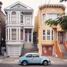 Cool old cars parked on the streets of San Francisco. via Wired Cool Old Cars, Information Overload, Car Parking, Vintage Cars, San Francisco, Mission District, Construction, Street, Outdoor Decor