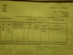 Titanic passenger death certificate