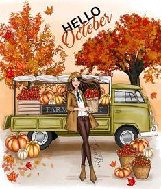 October Fashion, Beautiful Girl Drawing, Hello October, December, Disney Phone Wallpaper, Disney Princess Drawings, Illustrators On Instagram, Girls World, Fairy Art