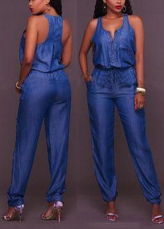 New Arrival 2017 Jumpsuits Jeans European Style Women Jumpsuit Denim Overalls Shirt Rompers Girls Pants Jeans XS-XXL Bodysuit - Jumpsuits and Romper Jumpsuit Denim, Womens Denim Overalls, Sexy Outfits, Casual Outfits, Fashion Outfits, Casual Pants, Jumpsuits For Girls, Long Jumpsuits, Womens Jumpsuits