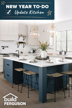 Planning to cook more meals at home, have more dinners with the family, or eat healthier in 2021? An updated kitchen can help with all those things!