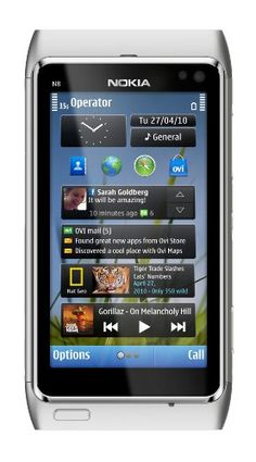 "Nokia N8 Unlocked GSM Touchscreen Phone Featuring GPS with Voice Navigation and 12 MP Camera--U.S. Version with Warranty (Silver/White) Make the most of every moment, then play it all back in HD with the Nokia N8. This high-tech device offers video recording in HD, plus instant video editing, a 12 megapixel camera and the ability to upload video to share with your friends and family. The Nokia N8 also packs a 3.5"" touchscreen, free* voice-guide..."