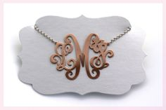 Monogram Necklace by Janine Binneman Jewellery Design Jewelry Rings, Jewellery, Monogram Necklace, Jewelry Design, Typo, Bracelets, Mothers, African, Jewels