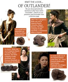 We are obsessed with the knitwear in the Starz series 'Outlander'. Check out our Outlander Yarn collection page