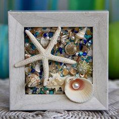 Starfish Wall Hanging Beach Decor of Seashell Art Coastal image 1 Beach Kitchens, Beach Bathrooms, Seashell Art, Starfish, Beach House Bedroom, Blue Wall Decor, White Stain, Coastal Wall Art, Beach Cottage Decor
