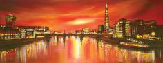 A signed, limited edition boxed canvas by contemporary cityscape artist Paul Kenton.