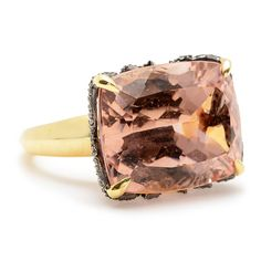 Sorellina Morganite Ring with Diamonds | Greenwich Jewelers