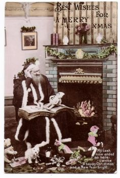 Christmas Santa Claus with Story Book & Toys Fireplace