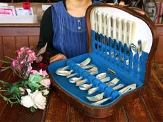 c.1937 ROGERS純銀P.1937年製造アンティークカトラリー45本 Antique cutlery ¥121yen 〆04月21日
