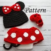 Minnie Mouse set pattern - via @Craftsy