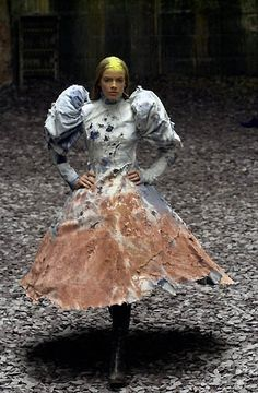 Alexander McQueen F/W 2000 Congratulations, Alex, you invented the muddy dress!  See, Kate's wedding dress was a fluke!