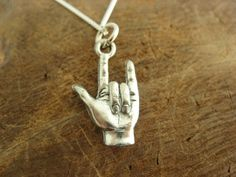 Love Sign Language necklace $20