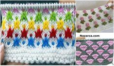 1 TIĞ 2 ŞİŞ ÖRGÜLERİN TARİFLERİNE BAKABİLİRSİNİZ Knitting Stitches, Baby Knitting, Knitted Baby Clothes, Crochet, Stitch Patterns, Blanket, Creative, Knitting Tutorials, Tinder