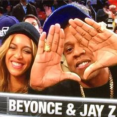 Beyoncé & Jay At 64th NBA All-Star Game Madison Square Garden in New York City  15.02.2015