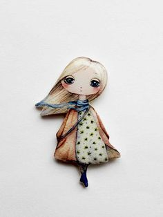 Free shipping Girly Brooch pin Teen brooch teen by Dinabijushop