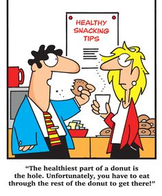The healthiest part of donut...