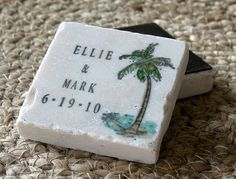 Tropical Palm Tree Save The Date Magnets - Personalized Beach Wedding Party Favors - Set of 25 by MyLittleChick on Etsy https://www.etsy.com/listing/59957089/tropical-palm-tree-save-the-date-magnets
