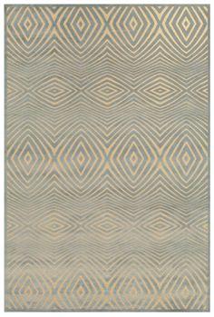 RugStudio presents Feizy Saphir Callo 3261f Cream / Silver Machine Woven, Good Quality Area Rug