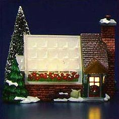 "Department 56: Products - ""Village Greenhouse"" - View Lighted Buildings"