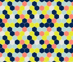honeycomb3 fabric by mgterry on Spoonflower - custom fabric