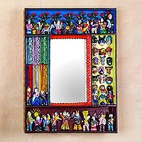 Discover unique handcrafted treasures. Every purchase will help UNICEF save and improve children's lives and help support talented artisans. Mirror, 'Scenes from the Andes'