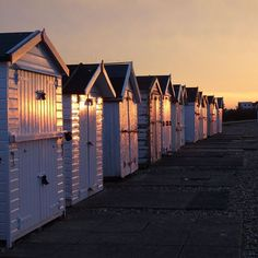 Goring Beach huts  pic by Paul Holden Worthing Journal